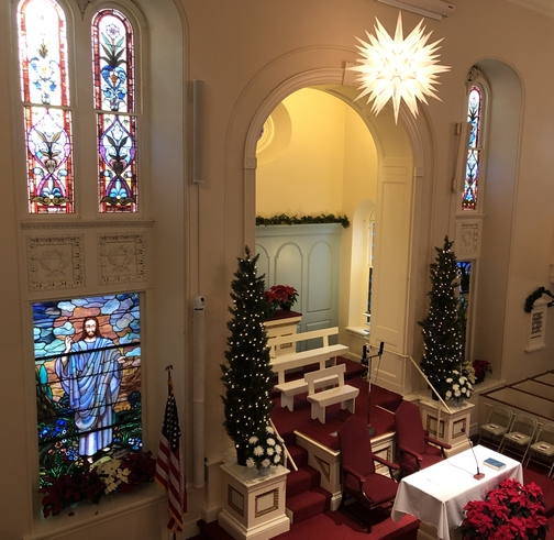 Moravian Star in Lititz Moravian Church 12/22/19