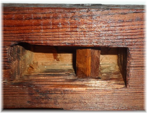 Lancaster County barn mortise and tenon joint