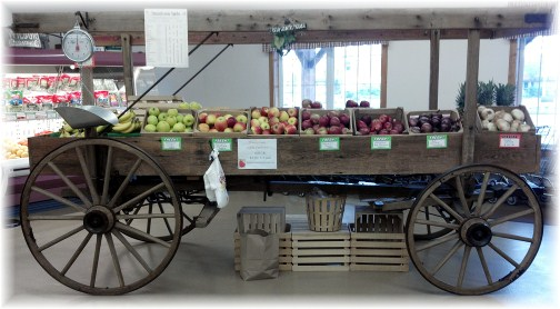 Produce cart at the Mount Joy Country Store