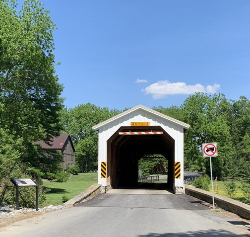 Neff's Mill Covered Bridge, Lancaster County, PA  5/27/19 (Click to enlarge)