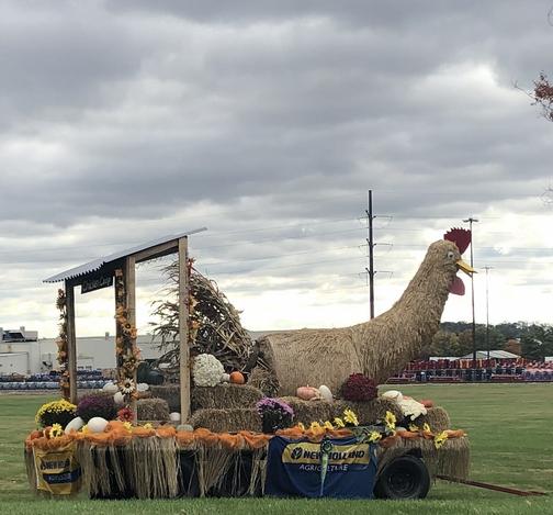 New Holland Farm Equipment headquarters autumn display 10/17/19