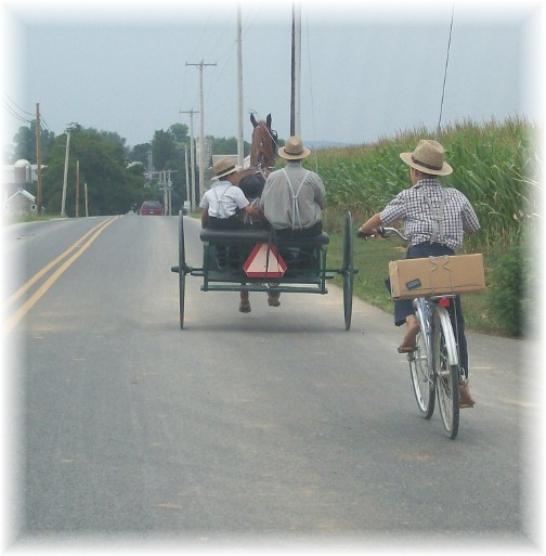 Lancaster County old-order Mennonite traffic 7/28/11