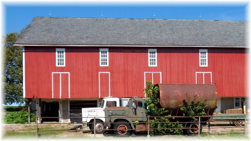 Old truck and barn in Lancaster County 9/11/12