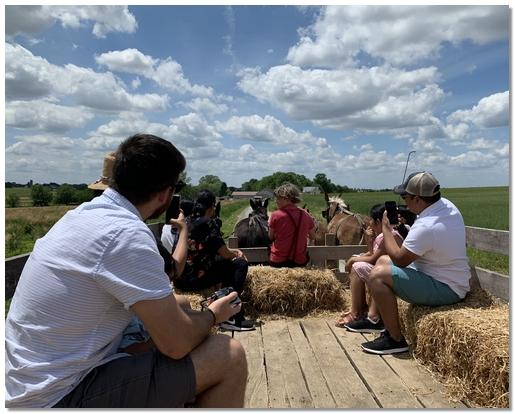 Old Windmill Farm horse-drawn hayride, 5/27/19