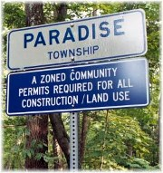 Paradise, PA sign