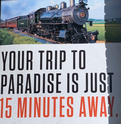 Trip to Paradise sign 9/19/19
