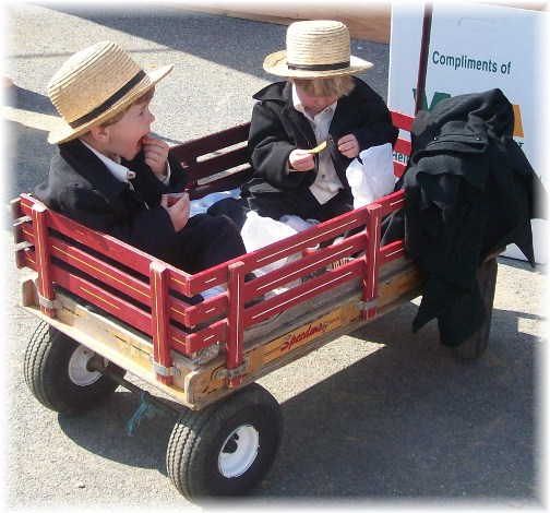 Little Amish boys at Penryn Mud Sale 3/17/12