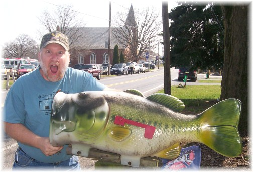 Mike with fish mailbox