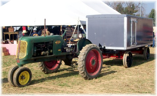 Tractor with Amish bench wagon