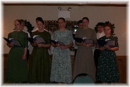 Plain People singing group 12/5/09
