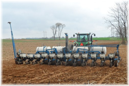 Corn planting 4/19/13