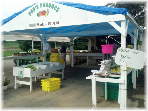 Lancaster County PA produce stand 7/24/13