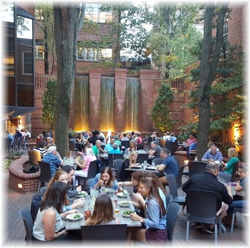 Lancaster Pressroom restaurant courtyard 9/16/16