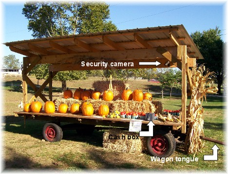 Produce wagon near Mount Joy Pennsylvania