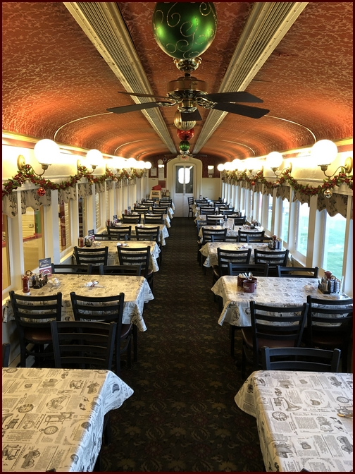 Red Caboose dining car, Lancaster County, PA 12/13/18