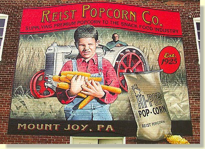 Reist Popcorn Company mural