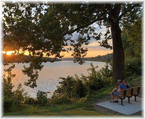 Sunset from Bainbridge, PA 6/26/18 (Click on photo to enlarge)