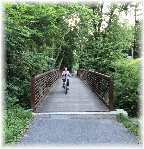 River trail over Conoy Creek near Bainbridge, PA 6/26/18