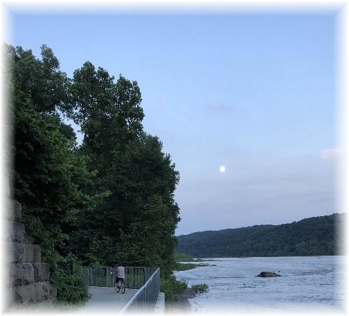 River trail moon view 6/26/18