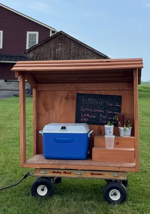 New Holland produce cart