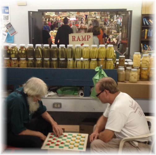 Root's Market checker game 8/12/14
