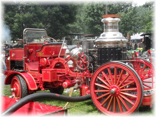 Fire engine at Rough and Tumble event, Lancaster County 8/14/13