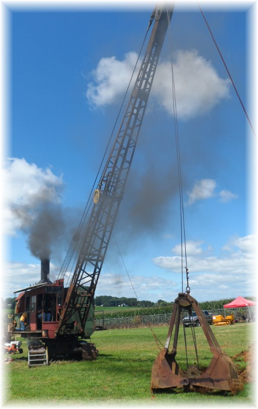 Steam excavator at Rough and Tumble event, Lancaster County 8/14/13