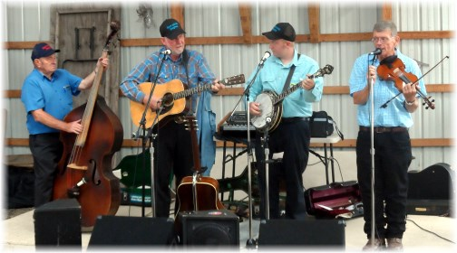 Bluegrass band at Rough and Tumble event, Lancaster County 8/14/13