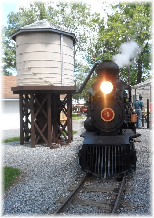 Steam engine train at Rough and Tumble event, Lancaster County 8/14/13