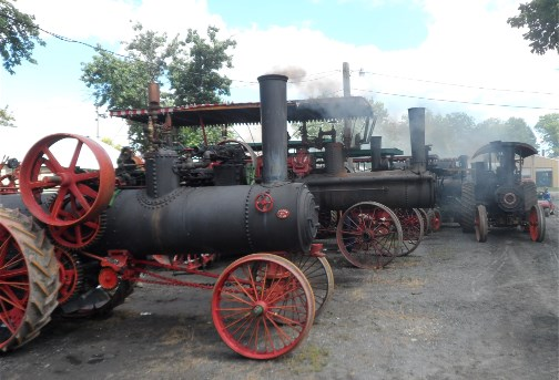 Steam engine tractors at Rough and Tumble event, Lancaster County 8/14/13