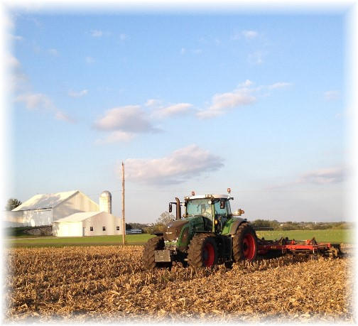 Tractor and disk 10/7/15