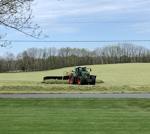 Rye harvest in Lancaster County 5/2/20
