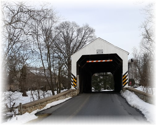 Schenk's Mill Covered Bridge, Lancaster County, PA 2/2/16
