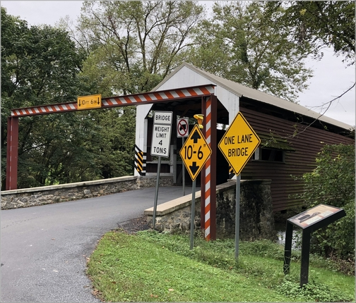Schenk's Mill Covered Bridge, Lancaster County 9/23/18 (Click to enlarge)