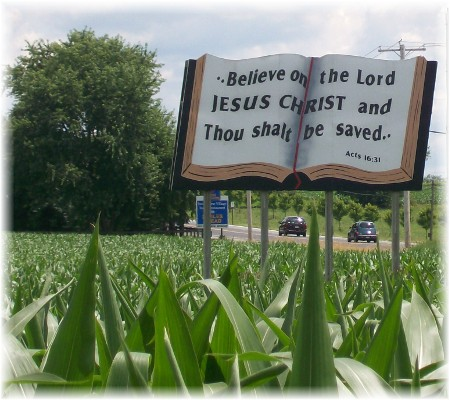 Scripture sign in Lancaster County PA
