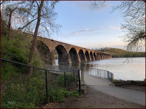 Shock's Mill railroad bridge from Northwest River Trail