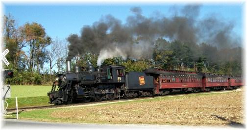Strasburg steam train in Lancaster County, PA 10/25/11