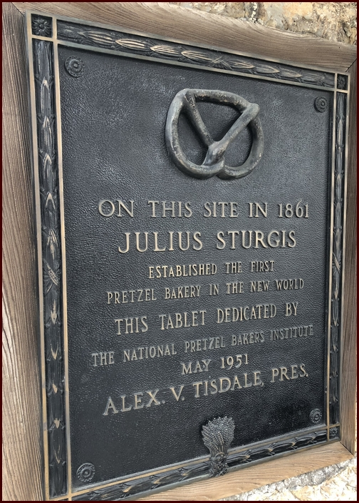 Sturgis Pretzel house historical plaque, Lititz, PA 2/17/19