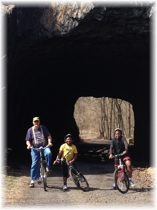 Railroad tunnel on Chiques Creek rail trail