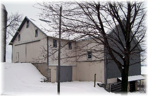 Three level bank barn in Lancaster County PA 1/22/12