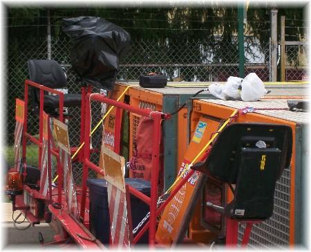Front of generator transporter