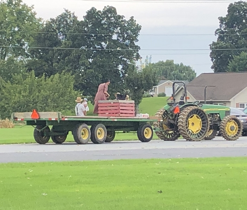Tractor and wagon in Lancaster County