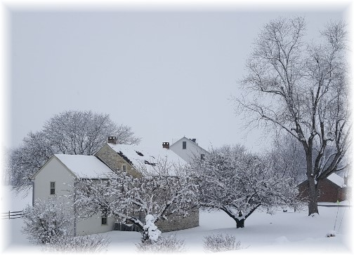 Trout Run Road home, Mount Joy, PA 2/9/16 (Click to enlarge)