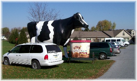 Turkey Hill mobile cow