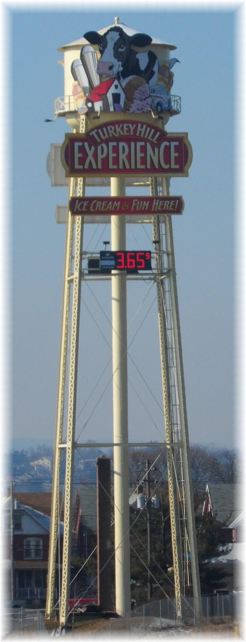 Turkey Hill Water Tower, Columbia PA, 2/14/13