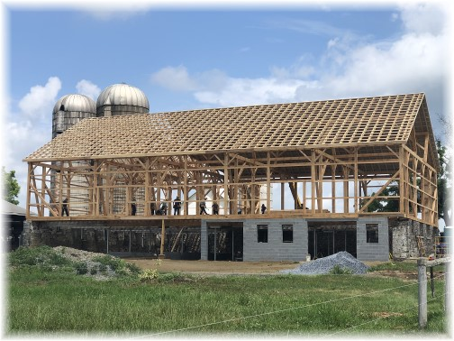 Barn-raising in Lancaster County, PA 7/5/18 (Click to enlarge)