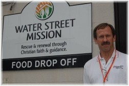 Tim Farrell at Water Street Rescue Mission