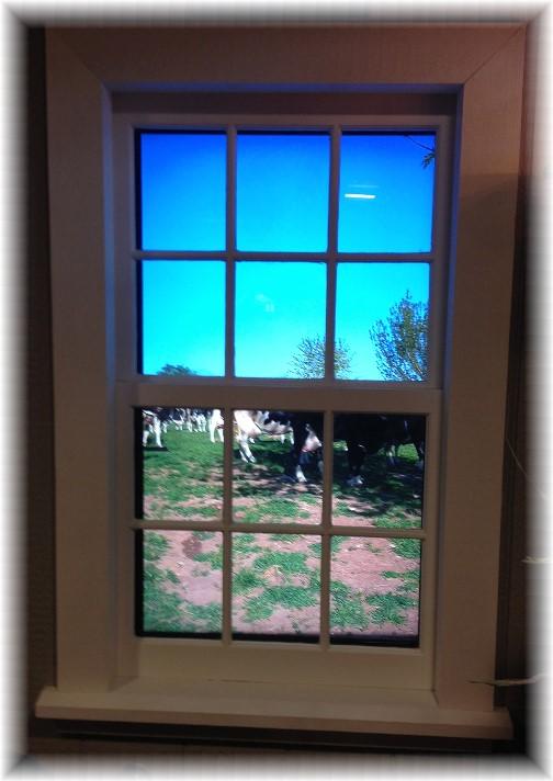 Window farm scene