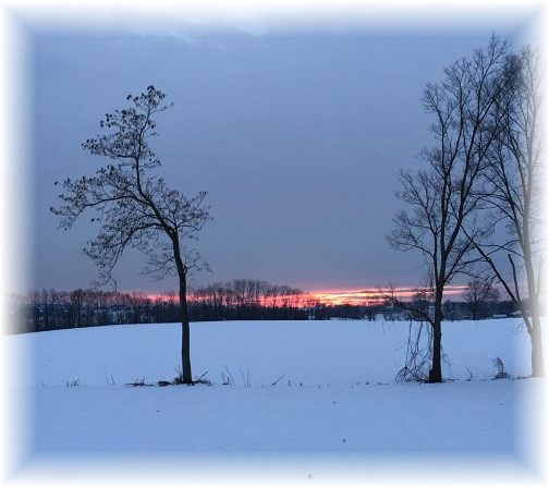 Lancaster County sunset 1/16