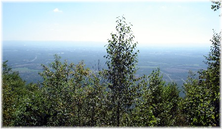 Mountaintop view of Cumberland valley